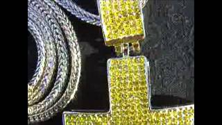 Lemonade Yellow Cross Hip Hop Jewelry Now