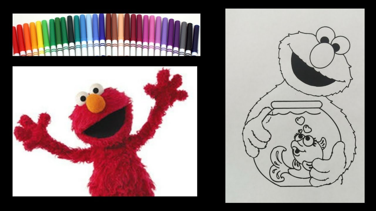 Elmo Coloring Sesame Street Coloring Book Coloring With Markers To Music
