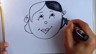 anne nasılmı çizilir siz çocuklara kolay çizimm