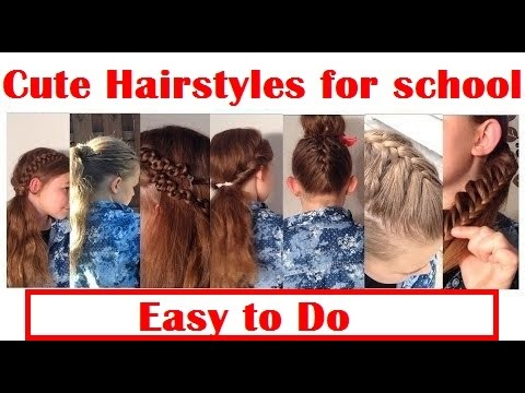 hairstyles school easy
