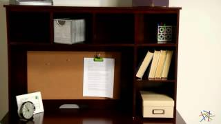 Piper Student Desk With Optional Hutch Set - Espresso - Product Review Video