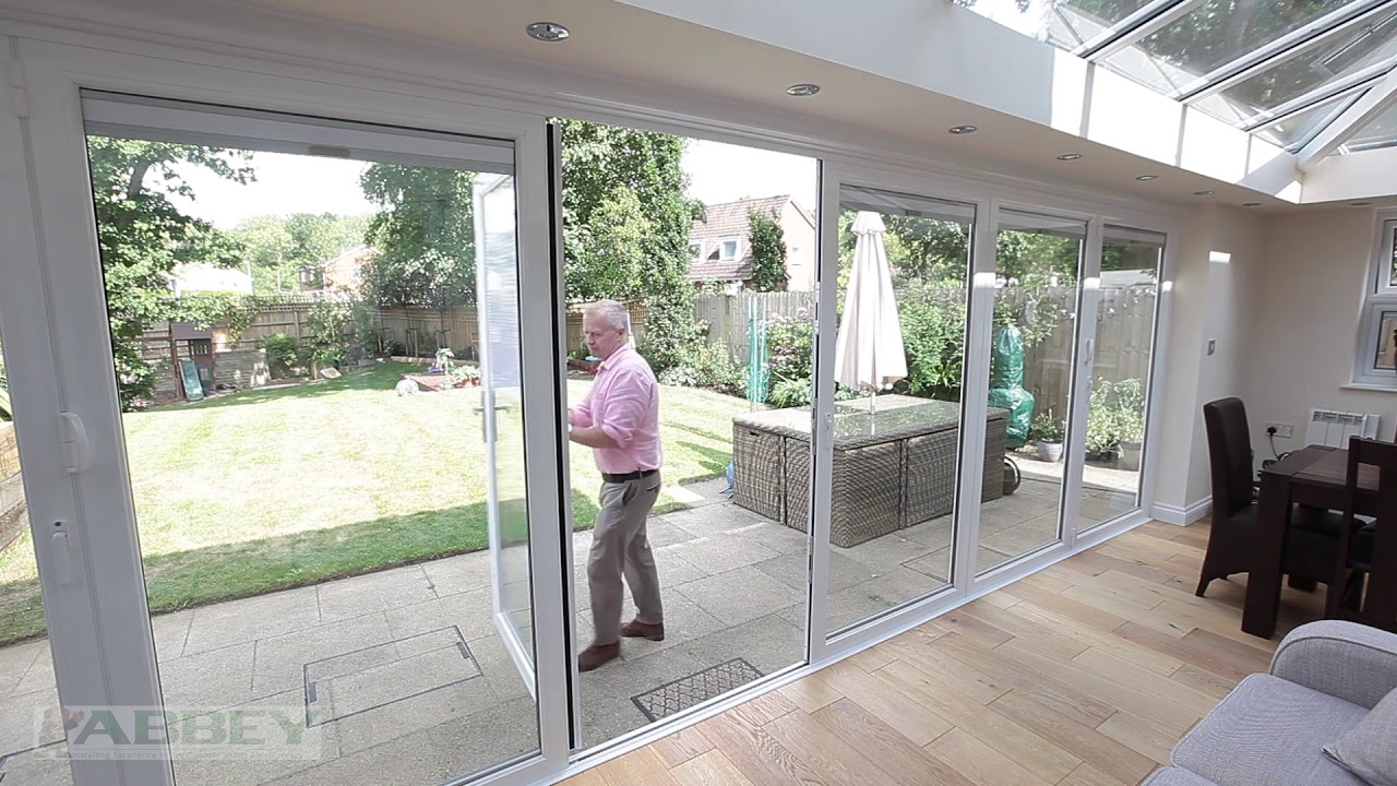 L Shaped Conservatory with Bi Fold Doors and Integral Blinds Reading Sound & L Shaped Conservatory with Bi Fold Doors and Integral Blinds ...