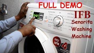 IFB 6.5 kg Fully Automatic Front Loading Washing Machine Full Demo | Senorita Aqua VX, White |