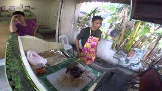 COST OF LIVING IN THE PHILIPPINES Street Food $3.60 for Real Charcoal Broiled Barbecued Chicken's