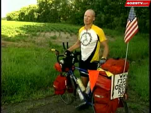 Man Pedaling Across Country To Call Attention To Obesity