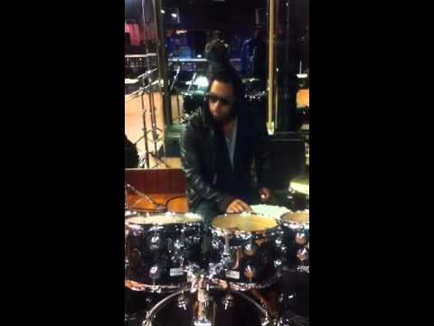 Bobby V on the drums