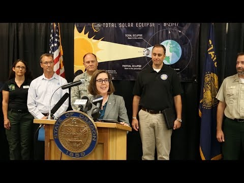 Gov. Kate Brown's Eclipse Press Conference 8/15/2017