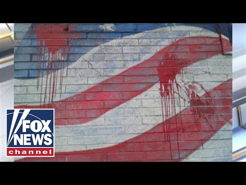 Antifa targets American flag mural in NY town