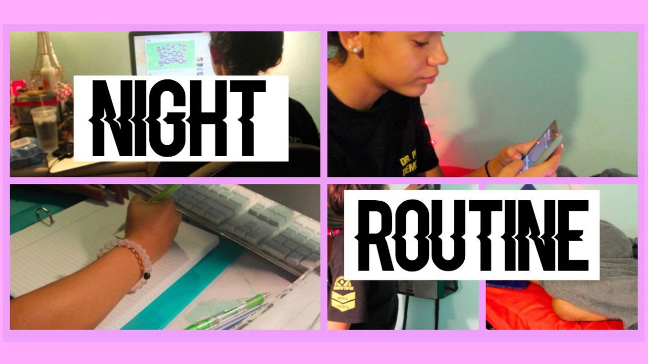 Back To School: Night Routine! - YouTube