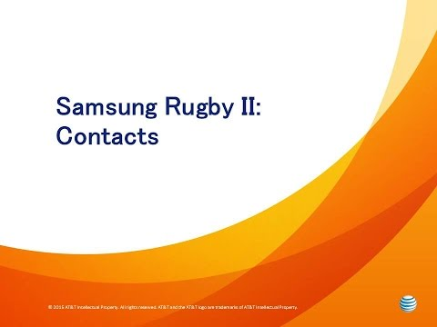 Samsung Rugby II: Contacts