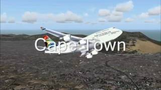 Flight Simulator 2004 Cape Town to New York by South African Airways
