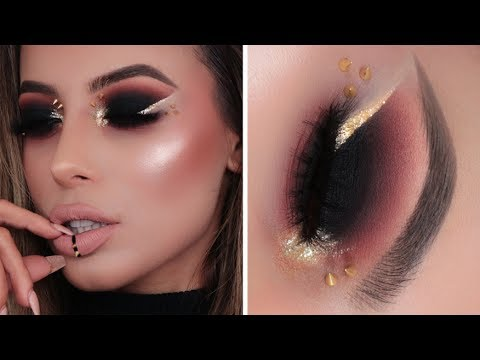 SASSY BLACK AND GOLD GRUNGE INVISIBLE EYELINER TUTORIAL