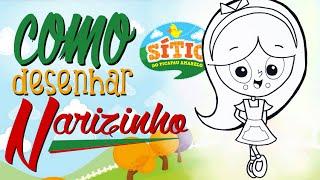 TUTORIAL: Como desenhar a Narizinho do Sítio do PicaPau Amarelo! Cómo dibujar Narizinho!