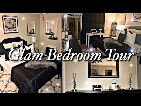 Small Elegant Glam Master Bedroom Tour Inexpensive Decor On A Budget 2020 Youtube