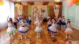 "Танец ""Я рисую речку"". ДОУ №8 ""Малыш"" г. Шахтёрск старшая группа"