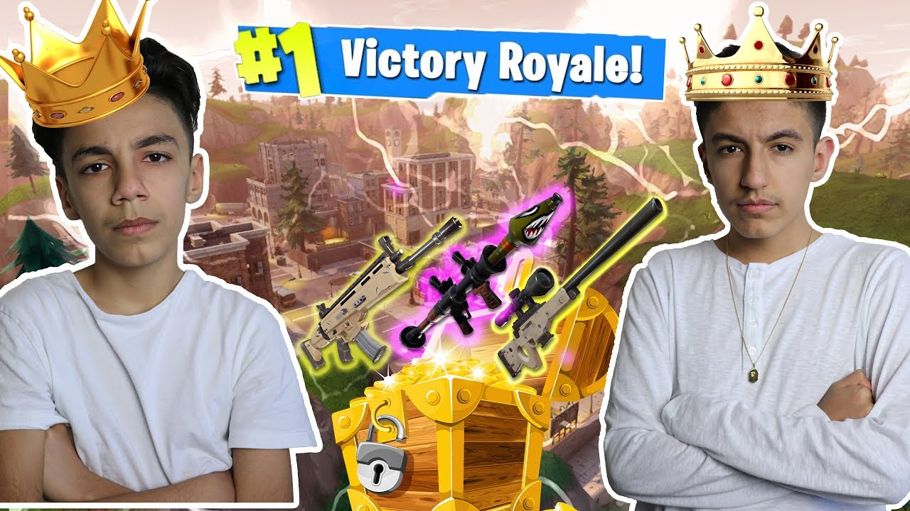 Tilted Towers Kings! Best Fortnite Duos With Brother! Victory Royale!
