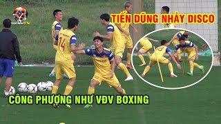 Đội tuyển Việt Nam tập luyện tập đấm bốc và nhảy disco trước trận gặp Thái Lan | Ted Trần TV