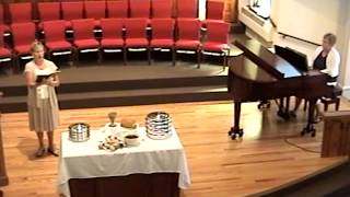 Worship Service Grace Mennonite Church August 18, 2013