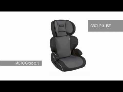 Mamas and Papas Moto Group 2,3 Car seat - YouTube