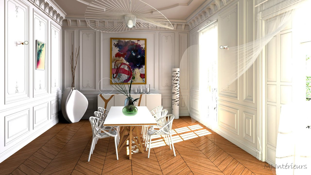 mariage de l 39 haussmannien et du design par mj int rieurs youtube. Black Bedroom Furniture Sets. Home Design Ideas