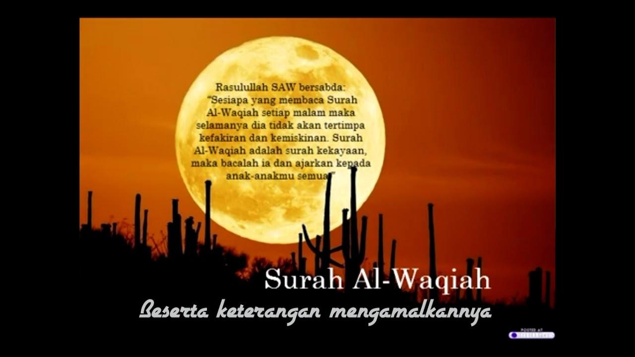 Surah Kekayaan Beserta Keterangan Amalan Surah Al Waqiah Mishary Rashid Al Falasy