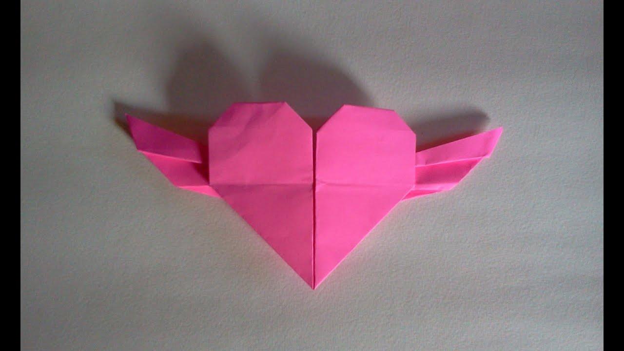 cara membuat origami hati origami love youtube