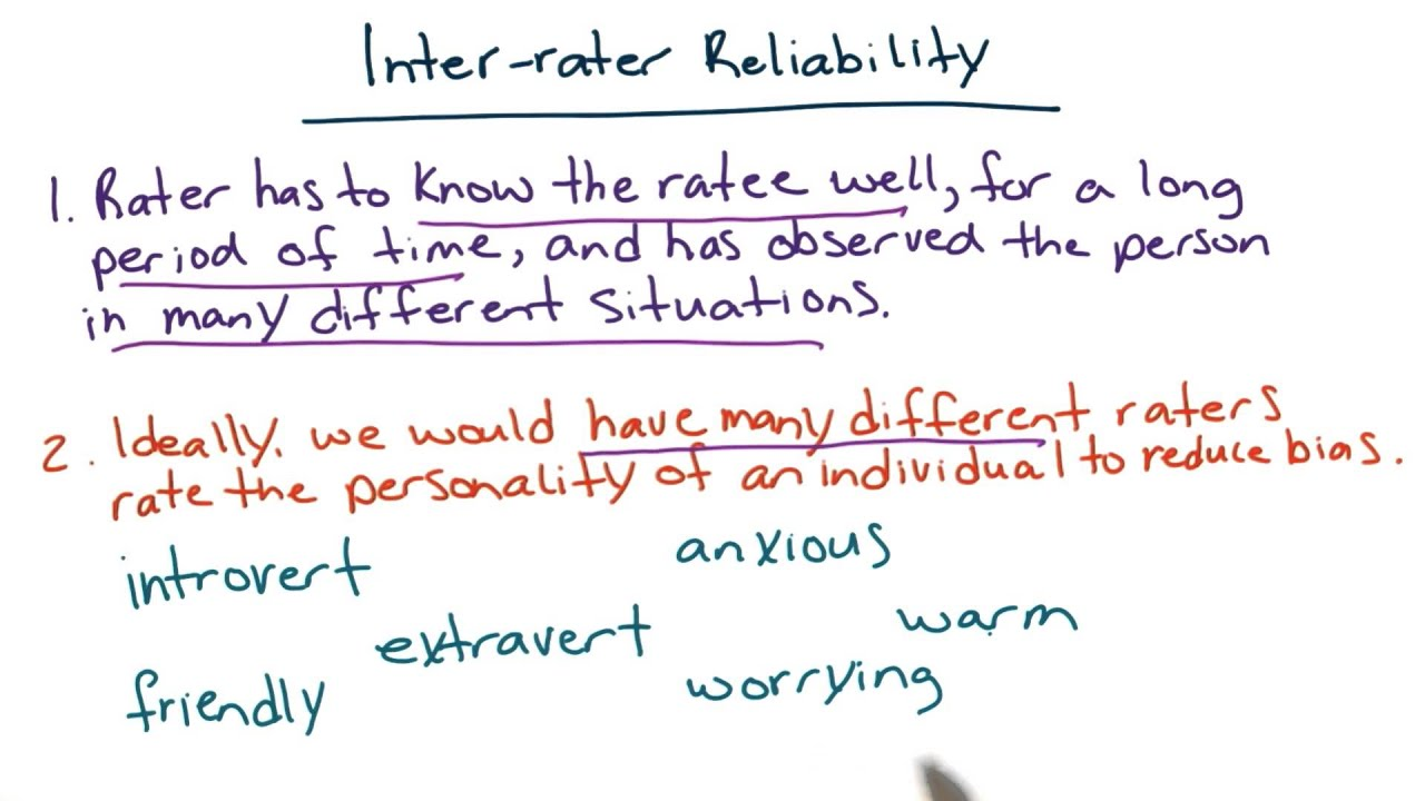 inter rater reliability intro to psychology youtube. Black Bedroom Furniture Sets. Home Design Ideas