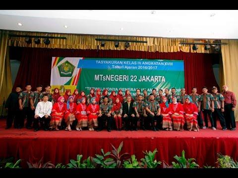 Tasyakuran Mts Negeri 22 Jakarta Tahun ajaran 2016/2017