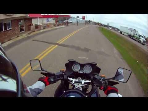 Nisswa Minnesota, a ride through it on the V-strom 1000