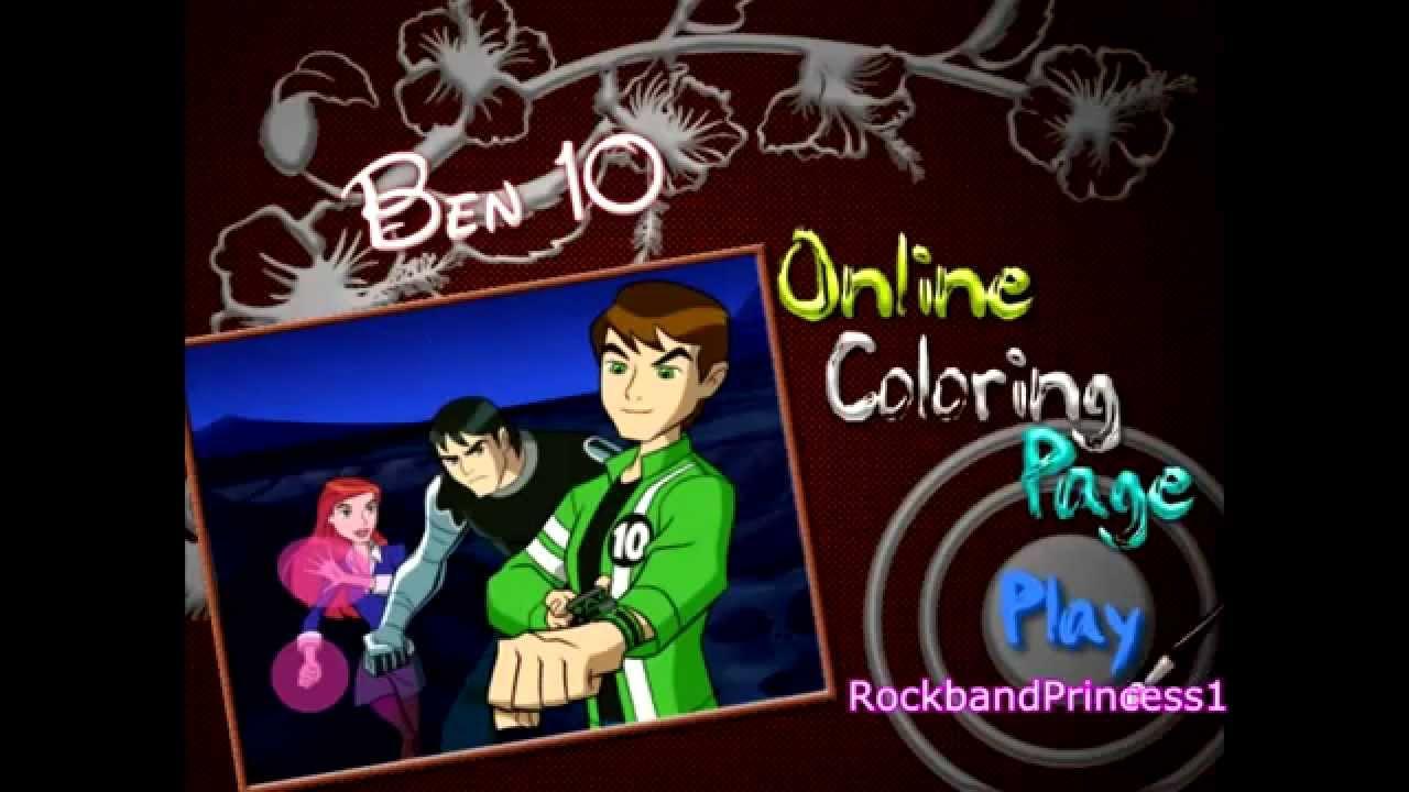 Cartoon coloring games online - Ben 10 Games Ben Ten Coloring Games Online