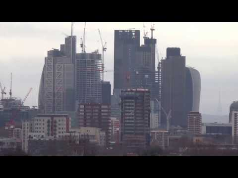 London Skyline  View From Hackney April 3 2018