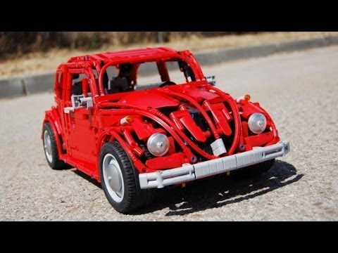 lego volkswagen beetle type   full remote controlled  sheepo youtube