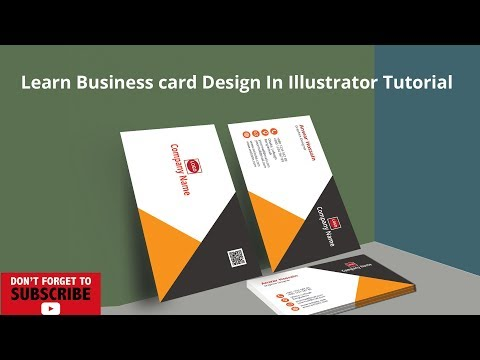 Business card Design In Illustrator Tutorial thumbnail