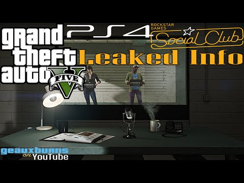 GTA V: PS4 Rockstar Social Club Leaked Info