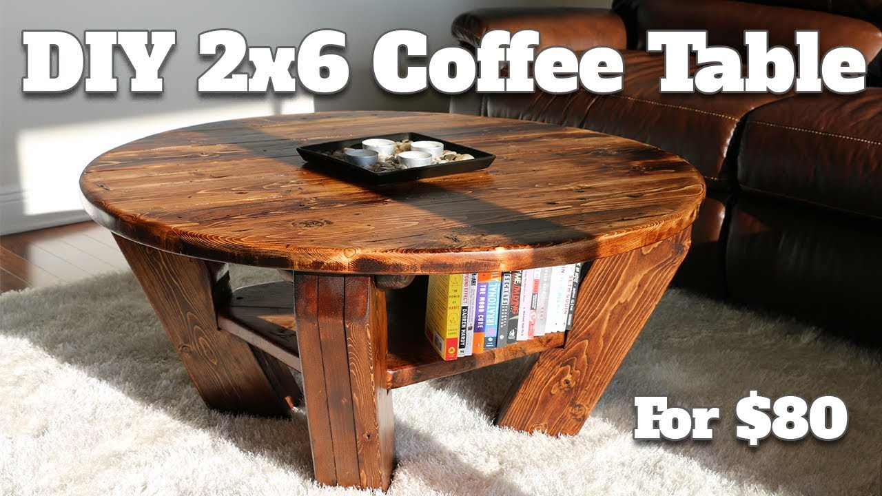 DIY Burntwood Coffee Table   Only Cost $80 To Make! (using 2x6u0027s From Home  Depot)