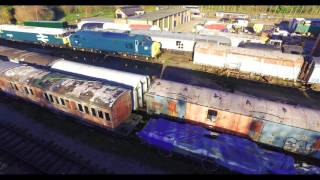 Great Central Railway Nottingham Aerial Photography 4K