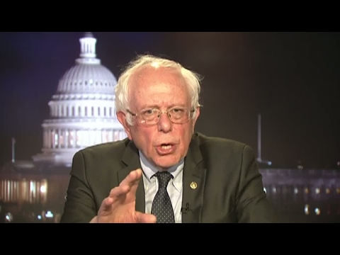 US - Vermont Senator Bernie Sanders reacts to President Trump