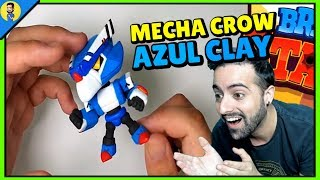 MECHA CROW AZUL CREADO CON ARCILLA - BRAWL STARS CLAY MAKING