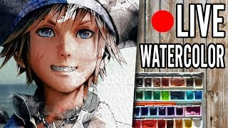 Kingdom Hearts III - Pirate Sora【Watercolor LIVE Stream】