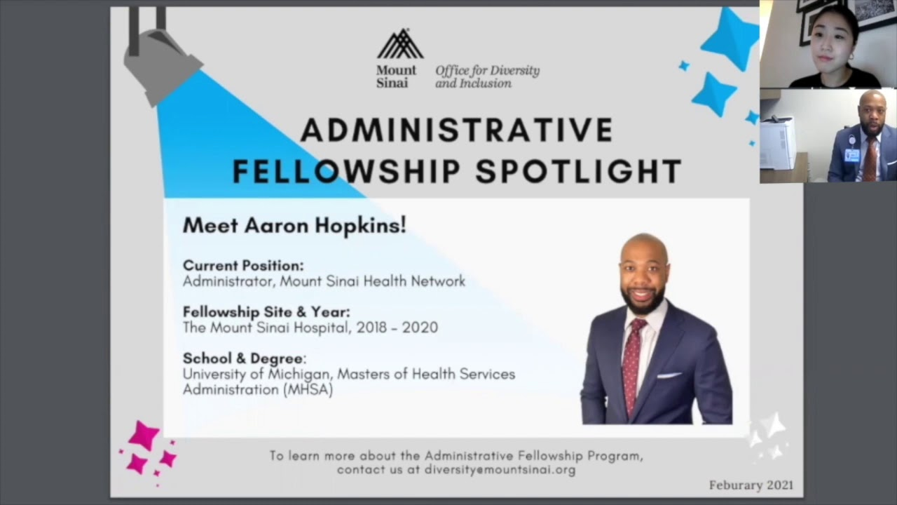 Administrative Fellowship Spotlight Series