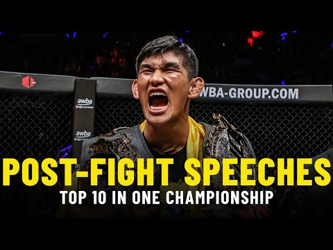 Top 10 Post-Fight Speeches In ONE Championship