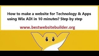 How to make a website for Technology & Apps using Wix ADI in 10 minutes? Step by step