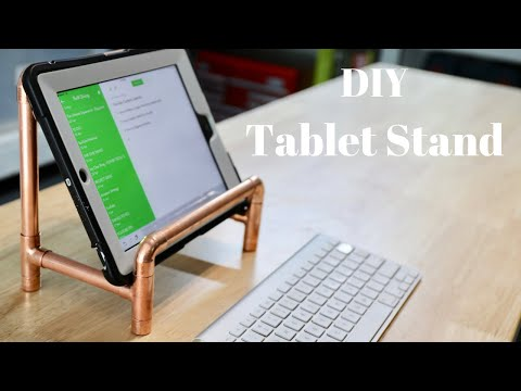 DIY Tablet Stand Made with Copper Pipes - NO POWER TOOLS! - Thrift Diving