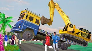 लालची JCB वाला Excavator Truck हिंदी कहानी Hindi Kahaniya | Bedtime Moral Stories Hindi Fairy Tales
