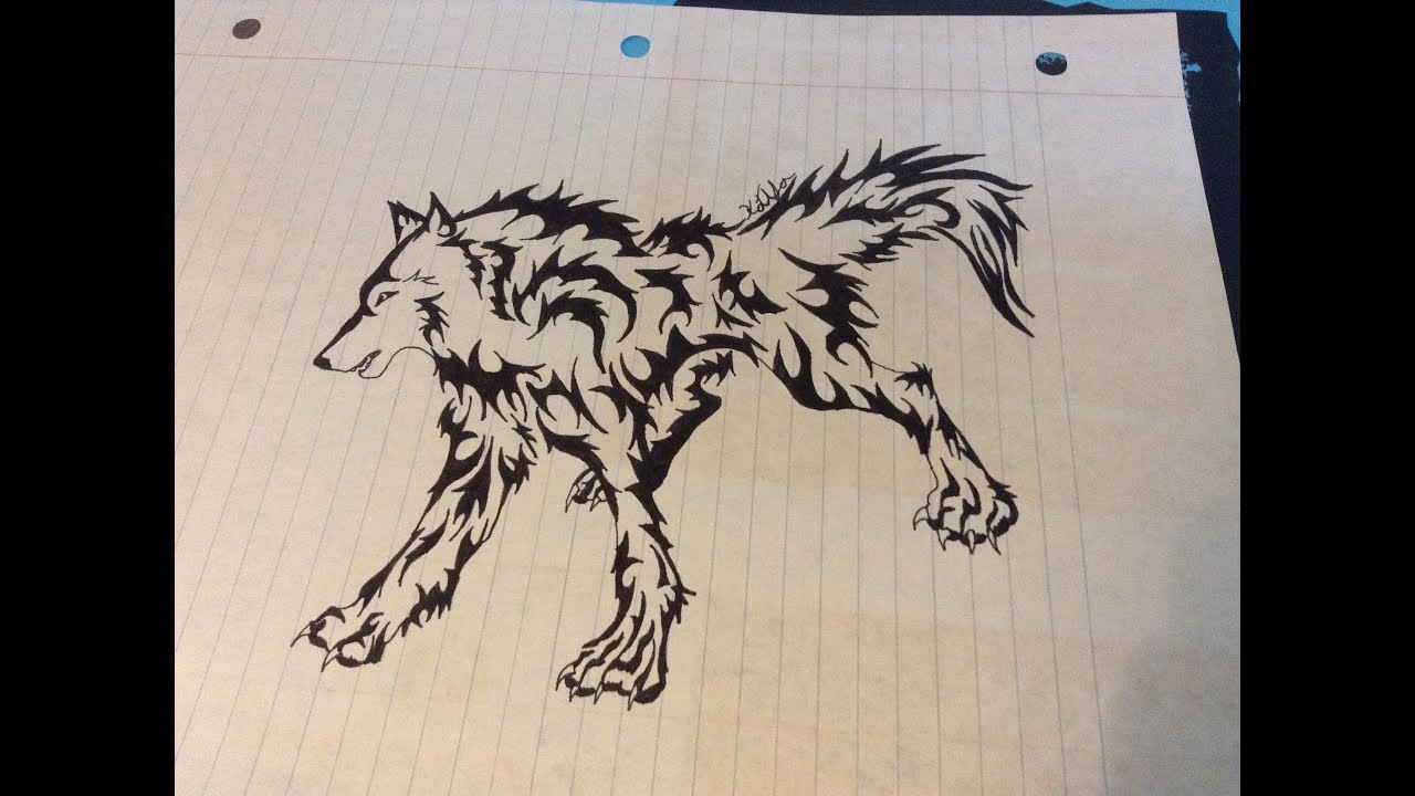 how to draw stark wolf