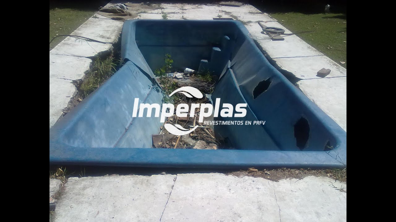 Reparaci n de piscina increible imperplas argentina youtube for Piscinas de fibra de vidrio