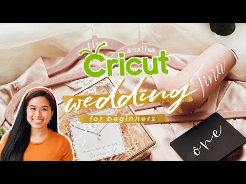 How To Make Wedding DIYs With Cricut Vinyl | Easy Projects And Tips For Beginners