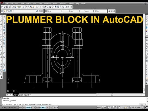 PLUMMER BLOCK IN AutoCAD - YouTube