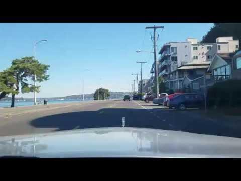 West Seattle, Washington / Beach Drive / Alki Beach Dash Cam tour - Exclusive