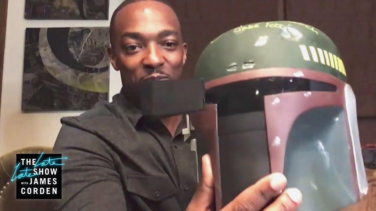Anthony Mackie's Boba Fett Motorcycle Helmet Rips